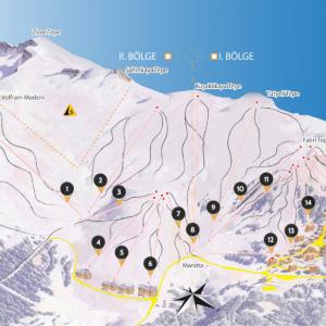 Uludag skiing trail map