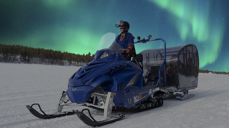 Aurora snow train Lapland