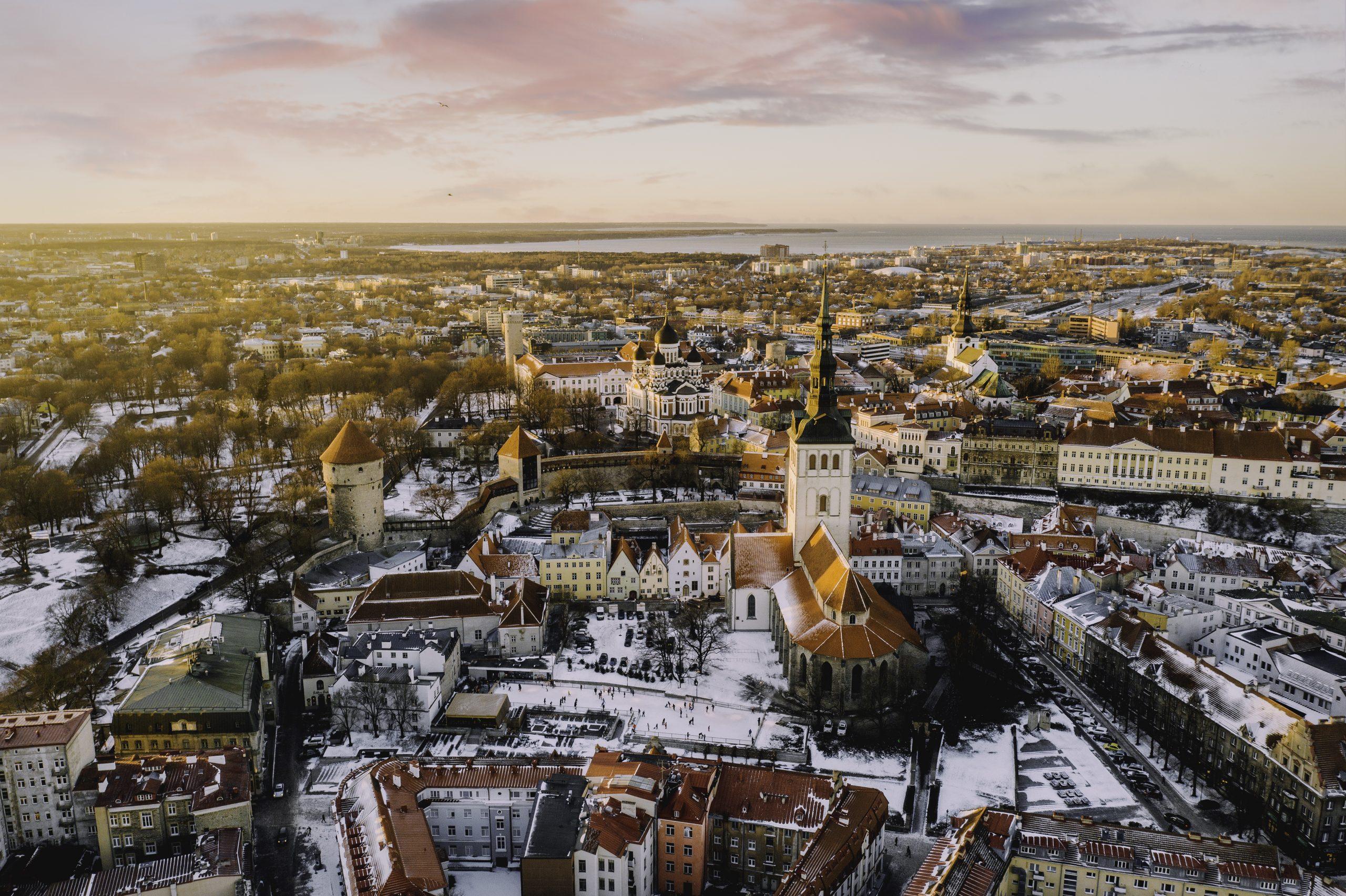 Winter in Old Town Tallinn